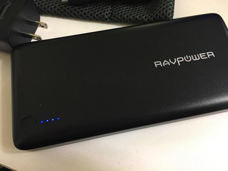 RAVPower充電済み